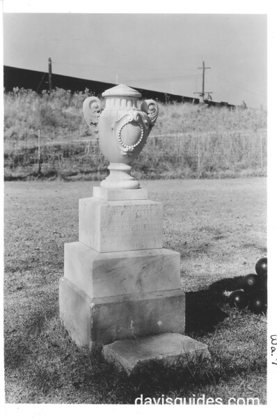 Monument in memory of Maj. Samuel Spotts who shot the first gun at the Battle of New Orleans, Chalmette National Monument (now Jean Lafitte National Historical park and Preserve), 1934.