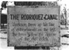 Sign for Rodriguez Canal, Chalmette National Monument (now Jean Lafitte National Historical Park and Preserve), 1934.