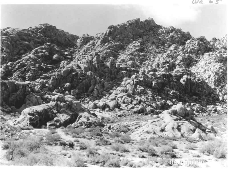 Rock formation on west side of entrance to Rattlesnake Canyon. Joshua Tree National Park, 1936.