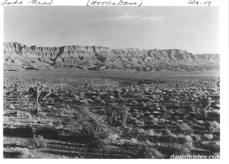 Lower Grand Wash Cliffs from Lost Basin near Pierce's Ferry Airport. Lake Mead National Recreation Area, 1937.