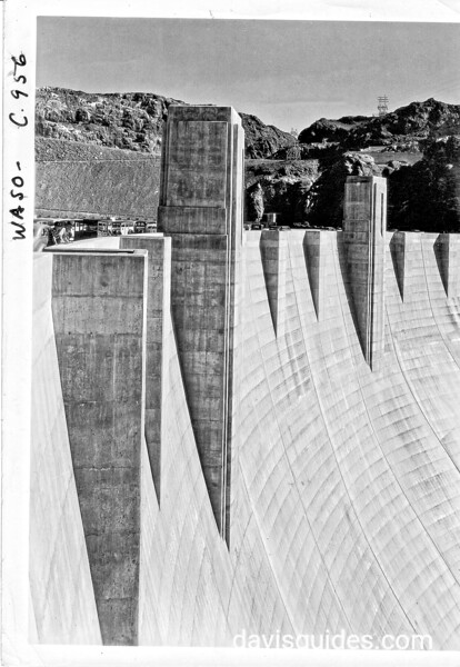 Detail of the face of Hoover Dam, Lake Mead National Recreation Area, 1939.