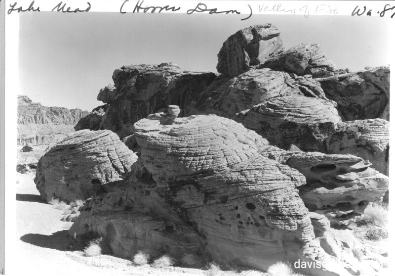 Fantastic red sandstone formation resembling beehives, in Valley of Fire. Lake Mead National Recreation Area, 1937.