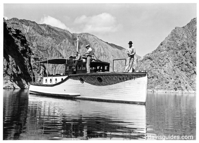 Fishing for bass, Lake Mead National Recreation Area, 1939.