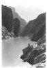 View up the Colorado River north of the Grand Canyon near head of navigation. Lake Mead National Recreation Area, 1937.
