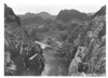 View down Black Canyon and Colorado River from the breast of Boulder (Hoover) Dam. Lake Mead National Recreation Area, 1939.