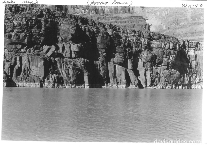 Face of Inner Gorge along Lake Mead. Lake Mead National Recreation Area, 1937.