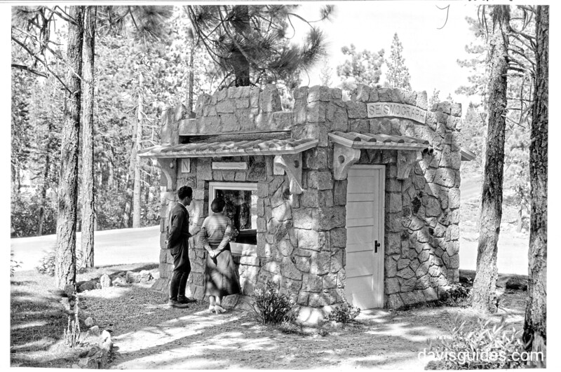 Seismograph in small building near the museum at Manzanita Lake. Lassen Volcanic National Park, 1934.