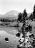 """""""September Morn, American style"""". Lassen Volcanic National Park, 1934."""
