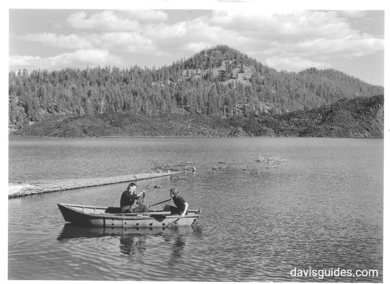 Fishing on Butte Lake, Lassen Volcanic National Park, 1941.
