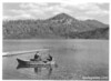 Fishing on Butte Lake, Lassen Volcanic National Park, 1941.