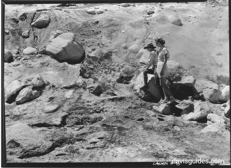 Visitors at Bumpass Hell, Lassen Volcanic National Park, 1934.
