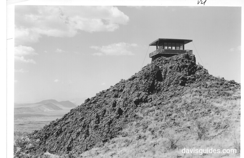 Schonchin Butte Lookout (built by the CCC), Lava Beds National Monument, 1941.
