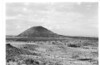 Schonchin Butte from Lava Beds CCC camp. Lava Beds National Monument, 1941.