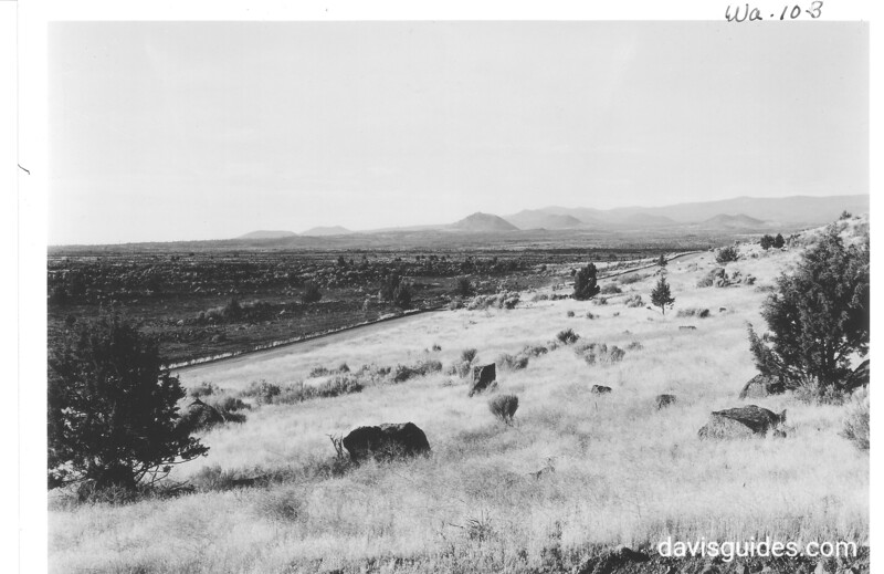 Devil's Homestead and Stygian Shore. Lava Beds National Monument, 1941.