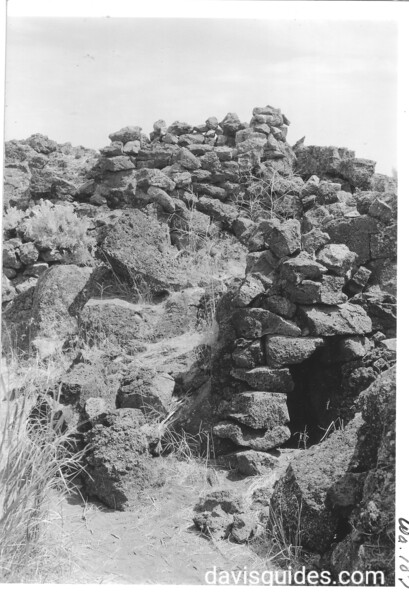 Fortifications in Captain Jack's stronghold. Lava Beds National Monument, 1941.