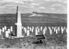C. F. Smith Monument and graves of soldiers from Fort Smith and Fort Phil Kearny. Little Bighorn Battlefield National Monument, 1933.