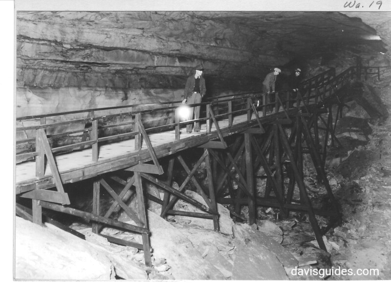 "The bridge between the ""Rocky Mountains""  and the entrance to Gypsum Cave. Mammoth Cave National Park, 1935."