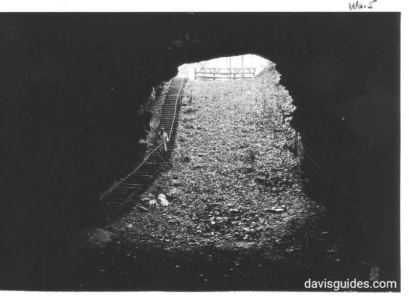 Historic entrance to Mammoth Cave, aka the natural entrance. Mammoth Cave National Park, 1935.