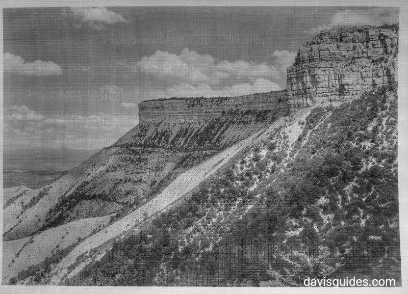 View of Mesa Verde plateau. Mesa Verde National Park, 1929.