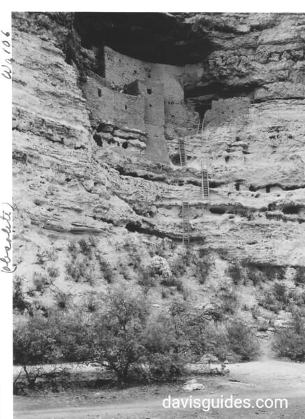 Main ruins at the Castle. Montezuma Castle National Monument, 1940.