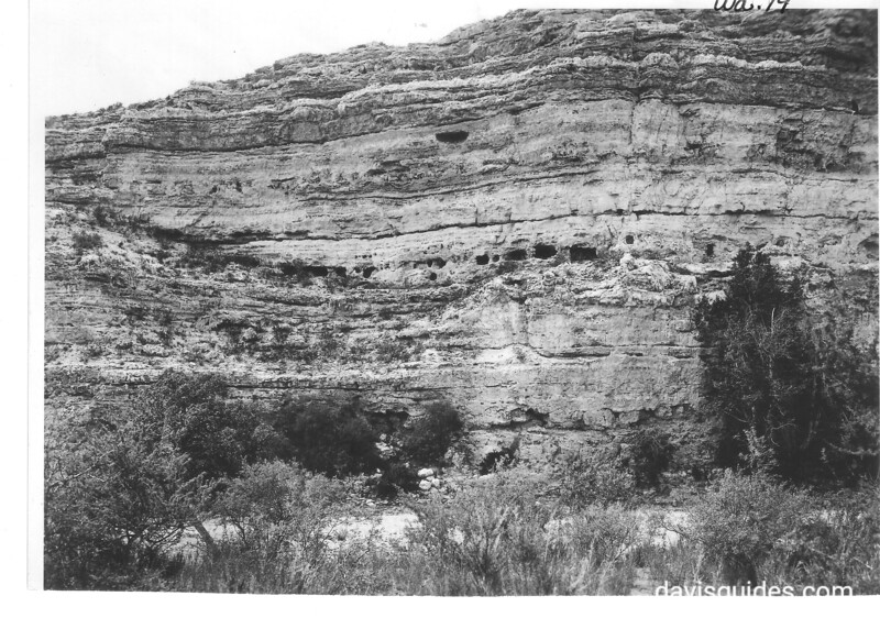 Ruins in the cliff 1/4 mile west of Castle. Montezuma Castle National Monument, 1929.
