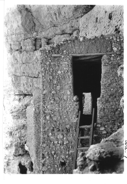 Doorway on upper part of front staircase. Montezuma Castle National Monument, 1940.