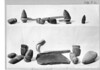 Picks found in sulphate mine. Other artifacts include stone axes, hammers, whetstones, and arrow sharpener. Montezuma Castle National Monument, 1929.