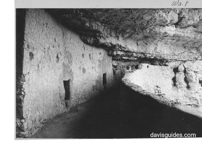 Upper balcony wall. Montezuma Castle National Monument, 1929.