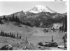 Mount Rainier and Little Tipsoo Lake. Mount Rainier National Park, 1940.