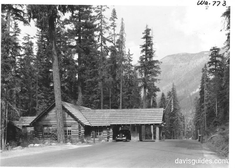 White River check-in station, Mount Rainier National Park, 1940.