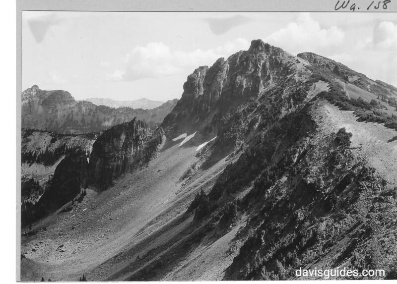 View along Sunrise Ridge above Sunrise Lodge, Mount Rainier National Park, 1932.