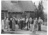 Naturalist and visitors at Paradise Valley Community House. Mount Rainier National Park, 1941.