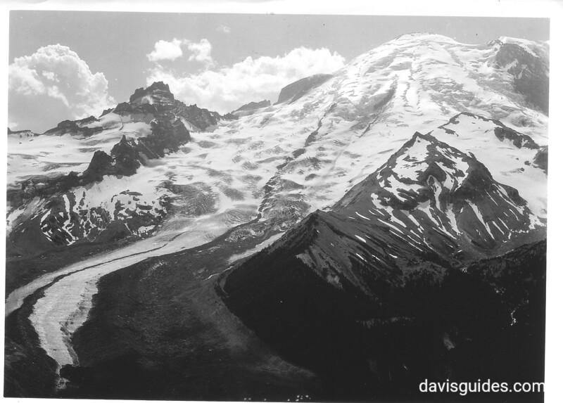 Little Tahoma, the upper part of the Emmons Glacier above Sunrise. Mount Rainier National Park, no date.