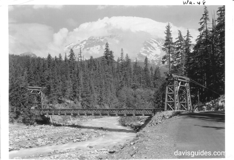 Bridge over Nisqually River at Longmire. Mount Rainier National Park, undated.