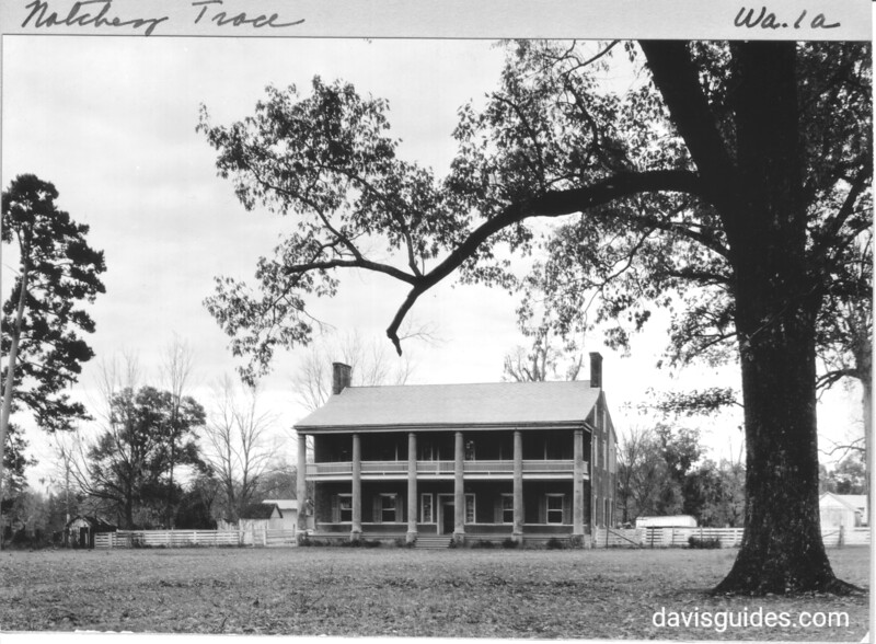 """""""Springfield"""", an antebellum mansion near Natchez, Mississippi. Andrew Jackson was reported to have married Rachel Robards here in 1791.  Natchez Trace Parkway, 1934."""
