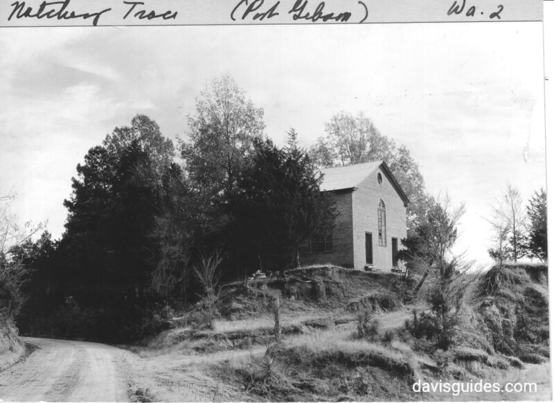 Closer view of Rocky Springs Church on old Natchez Trace, Mississippi. Natchez Trace Parkway, 1934.