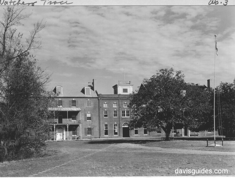 Jefferson Military College on Natchez Trace near Washington, Mississippi. Founded in 1802, Lafayette visited here and Jefferson Davis attended school her beginning at age 10. Natchez Trace Parkway, 1934.
