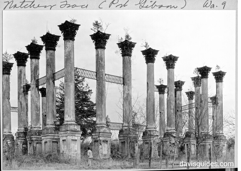Ruins of Windsor Castle plantation near Bruinsburg, Mississippi, along the proposed Natchez Trace Parkway. Natchez Trace Parkway, 1934.