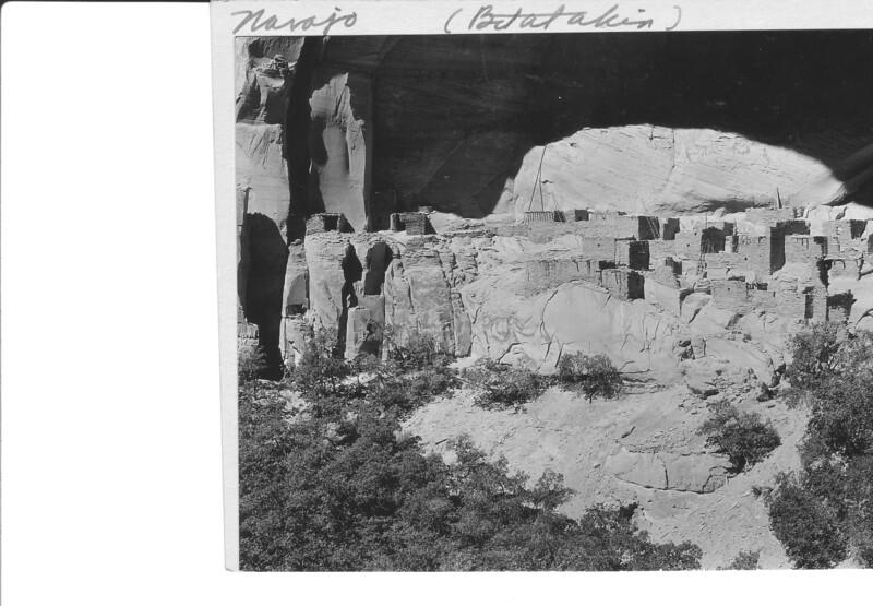 Western and main part of Betatakin Ruin, Navajo Natioal Monument, 1935.