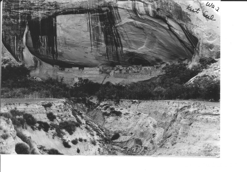 Keet Seel Ruin showing location in cliff. Navajo National Monument, 1935.
