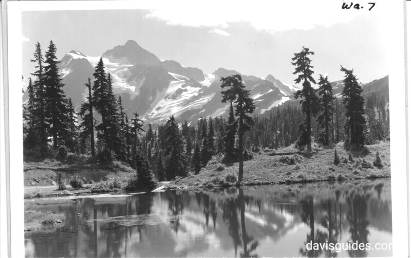 Mount Shuksan from heather meadows, just below Mount Baker Lodge. Future North Cascades National Park, 1937.
