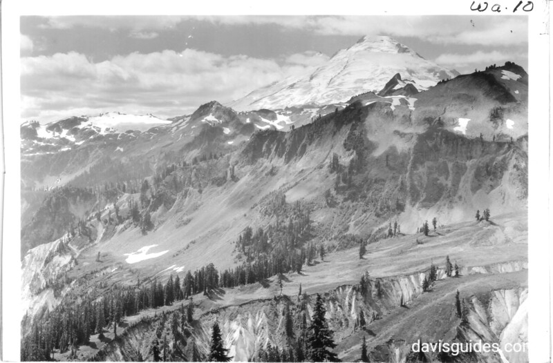 Mount Baker from Kulshan Bridge, Washington. Future North Cascades National Park, 1937.