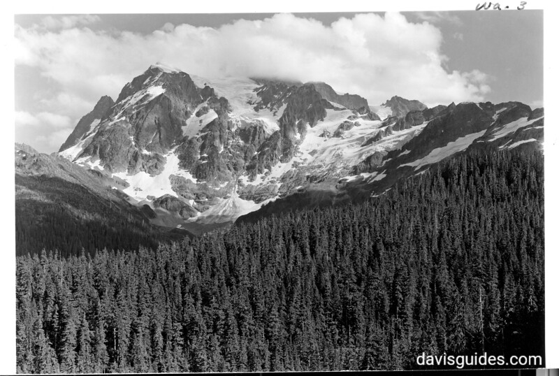 Mount Shuksan from Mount Baker Highway, future North Cascades National Park, 1937.