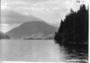 Storm King Mountain, on Lake Crescent from La Poel, Washington. Proposed Olympic National Park, 1937.