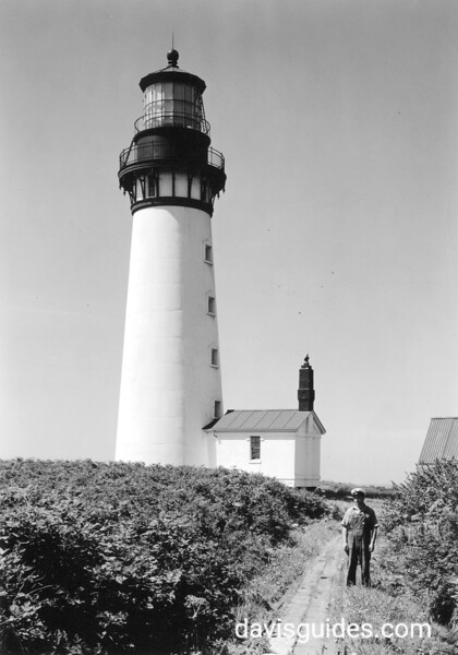 Lighthouse along Pacific Coast, Olympic National Park 1940.
