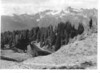 Mount Olympus from the High Divide, above the shore of Seattle Creek. Proposed Olympic National Park, 1936.