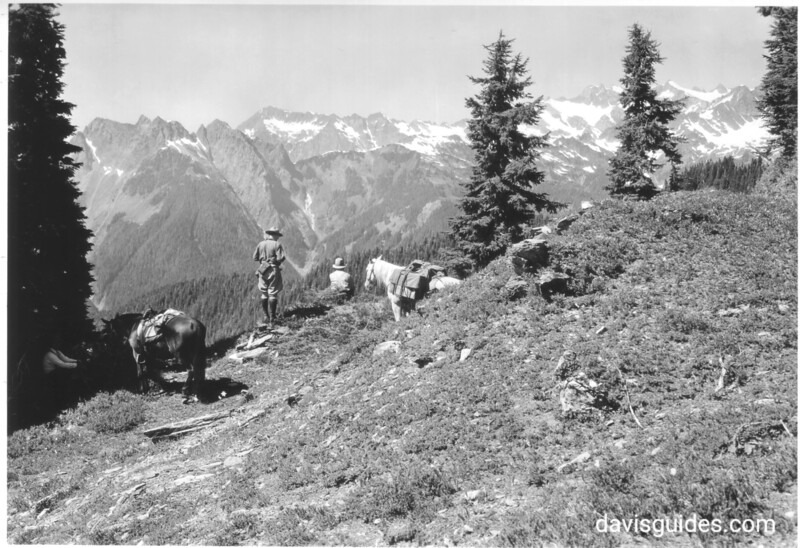 Horseback party on Hurricane Ridge. Olympic National Park, no date.