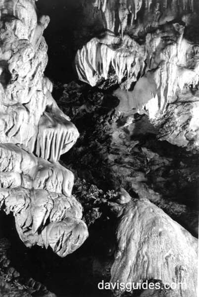 Rock formations inside the caves. Oregon Caves National Monument, 1936.