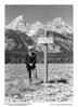 Standing in front of Mount Owen is Mr. William Owen, for whom the mountain is named. He was a well known Wyoming pioneer and early engineer and surveyor in the territory. In 1898, he and three others were the first to climb the Grand Teton or the American Matterhorn. Grand Teton National Park, 1933.