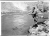 Senator Gerald Nye fishing in the Yellowstone River. Yellowstone National Park, 1933.